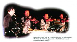 With the Soweto String Quartet, Johannesburg